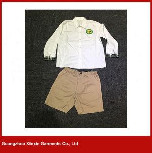 Wholesale Fashion Design White Cotton Shirt School Uniform (U42) pictures & photos