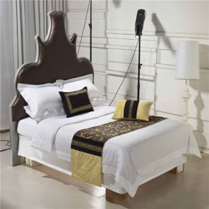 100% Polyester Hotel Bed Runner Hotel Pillow Case Cushion Cover pictures & photos