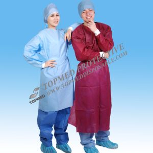 Disposable Hospital Gown Costume, Medical Gowns for Sale, Isolation Gown pictures & photos