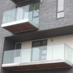 China Manufacture Exterior Stair Glass Railing, Glass Handrail, Stair Glass Railing Prices pictures & photos