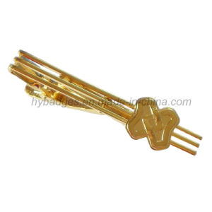 Gold Plated Alloy Tie Clip Brass Tie Clip (GZHY-LDJ-001) pictures & photos