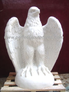 Carving Stone Marble Eagle Statue Animal for Garden Sculpture (SY-B102) pictures & photos