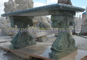 Antique Stone Marble Granite Garden Bench for Garden Furniture (QTC069) pictures & photos