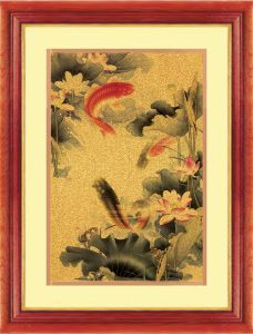 24k Pure Gold Foil Painting /Gold Leaf Craft (The Red Carp)
