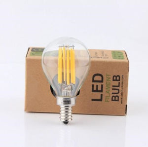 Clear Glass 3000k 4W G45 E27 LED Bulb with Dimmable pictures & photos