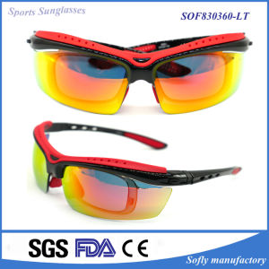 100% UVA UVB Professional Cycling Sports Outdoor Polarised Sunglasses with Clip pictures & photos
