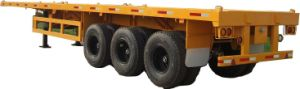 Cimc 40FT Flatbed Semi-Trailer with Three Axles Truck Chassis pictures & photos