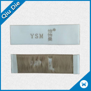 Low MOQ Woven Clothing Label Plane Soft Surface End Folding Garment Fabric Woven Label pictures & photos