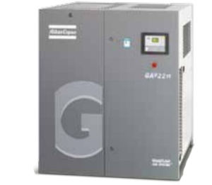 Atlas Copco Oil Injected Screw Air Compressor, Compressor, Air Compressor (GAe22)