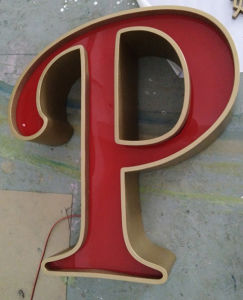 Pop Advertising Outdoor Signage Leakage Letter Sign pictures & photos