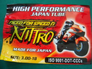 Nitro Brand Motorcycle Inner Tube 300-18 pictures & photos