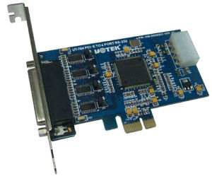 PCI-E to RS232 4 Port Industrial Multi-Serial Port Card (UT-784)