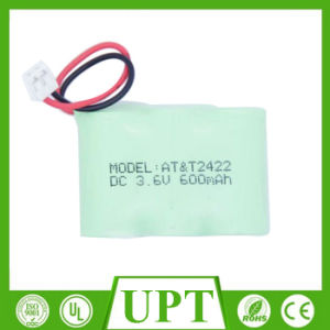 Ni-MH NiMH 3.6V 600mAh AA Rechargeable Batteries/Cells Packs Cordless Phone Battery pictures & photos