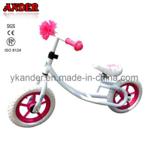 White and Pink Steel Kid Running Bike (AKB-1250)