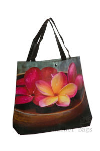 Laminated Non-Woven Fashion Tote Bag with Bottom Gusset (hbnb-404) pictures & photos