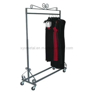 Height Adjusted Clothing Garment Rack with Casters Clothes Stand pictures & photos
