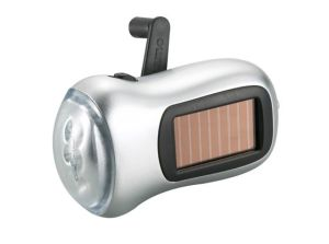 Dual-Power Solar Dynamo Flashlight (WF-215)