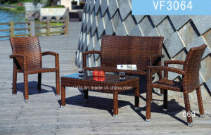 Traditional Easy Design Garden PE Wicker Rattan Sofa pictures & photos