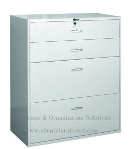 4 Drawer Metal Lateral File Cabinet with Lock pictures & photos