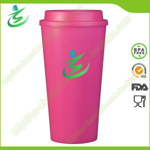 16 Oz Top Flat BPA-Free Coffee Cup with Custom Logo pictures & photos