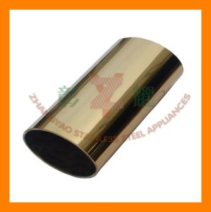 Stainless Oval Tube With Gold-Plated for The Nobile pictures & photos