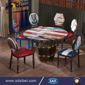 Industral Metal Table Restaurant Coffee Shop Table Sbe-CZ0636 pictures & photos