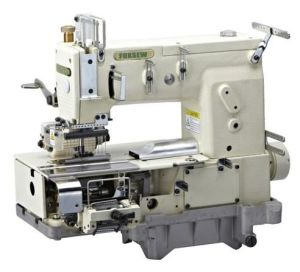 12-Needle Flat-Bed Double Chain Stitch Sewing Machine for Simultaneous Shirring pictures & photos