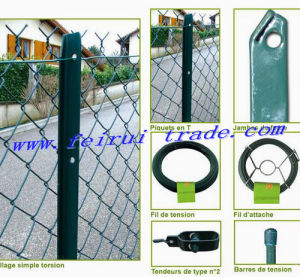 Chink Link Fence with T-Post for France Market pictures & photos