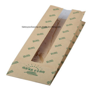 Sharp Bottom Food Bag with Clear Window Bread Paper Bag pictures & photos