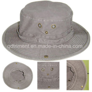 Washed Pigment Dyed Cotton Twill Leisure Fishing Bucket Hat (TMBH0001) pictures & photos