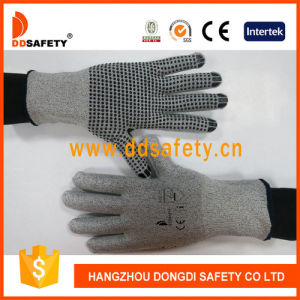 Ddsafety Grey Knitted Liner Cut Resistance Glove pictures & photos