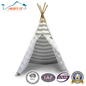 High Quality Cotton Cloth Wooden Indoor Children′s Tent pictures & photos