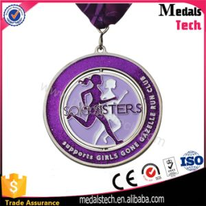 Personalize Zinc Alloy Gun Plated Spinning Medal with Bottle Opener pictures & photos