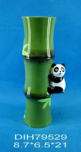 Hand-Painted Ceramic Vase with Panda Decoration pictures & photos