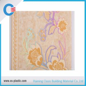Flower Design PVC Ceiling Panel Flat Hot Stamping PVC Wall Panel pictures & photos