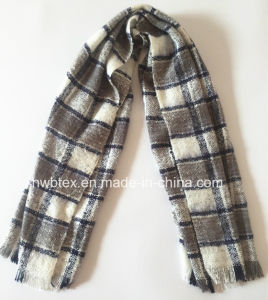 2017 Winter Collection Check Woven Brushed Acrylic Stole/ Scarf (HMK87) pictures & photos