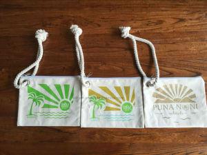 Zipper Pocket Drawstring Bag, Cotton Bag pictures & photos