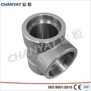 Duples Stainless Steel Socket Welding Reducing Tee (1.4404, X2CrNiMo171321) pictures & photos