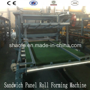 Rock Wool and EPS Foam Sandwich Panel Machine/Roll Forming Machine Line pictures & photos