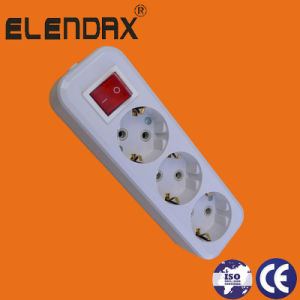 3-Way/2 Pin Extension Socket/Group Socket (E8003ES) pictures & photos