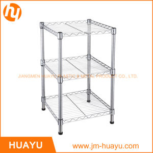 Three Tier Square Chrome Finish Display Shelf for Home/Store Use pictures & photos