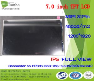 7 Inch IPS 1200X1920 Mipi 31pin 450CD/M2 Tablet PC LCD Screen pictures & photos