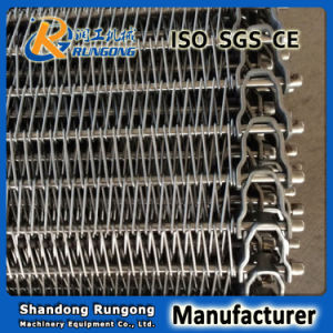 Flexible Rod Metal Turn Curve Conveyor Belt for Cooling Food pictures & photos