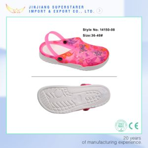 Women Style EVA Clog, Jelly Clog with Upper Printing pictures & photos