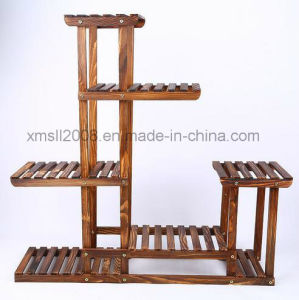 Furniture Gardon Balcony Wood Flower Rack for Display (SL-0039) pictures & photos