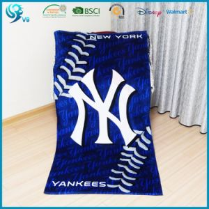 100% Cotton Velour Reactive Printed Custom Logo Brand Towel pictures & photos
