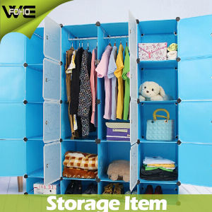 Modern Waterproof Plastic Bedroom Wardrobe Storage Systems Designs pictures & photos