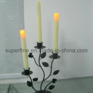 Battery Operated Flickering Romantic Bedroom Flameless Fire Safe LED Plastic Pillar Taper Candle pictures & photos
