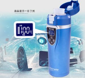 Insulation 12V Auto Travel Cup Thermos Bottle Heating Cup pictures & photos