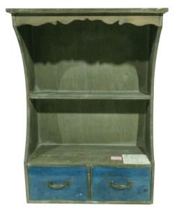 Blue Antique Hanging Cabinet with Two Drawers pictures & photos